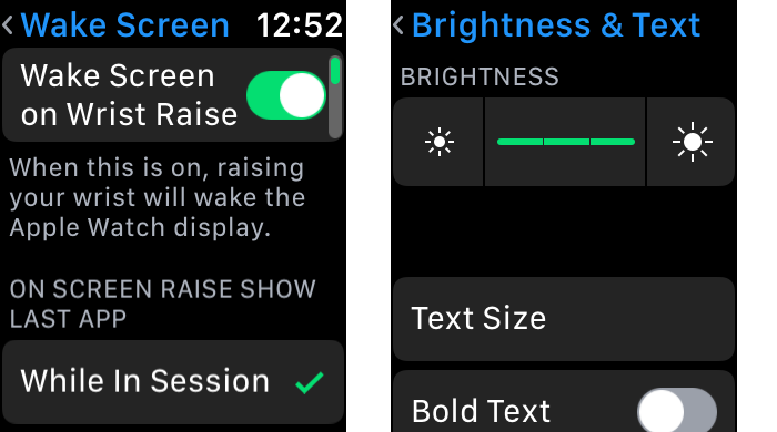 Apple Watch Settings