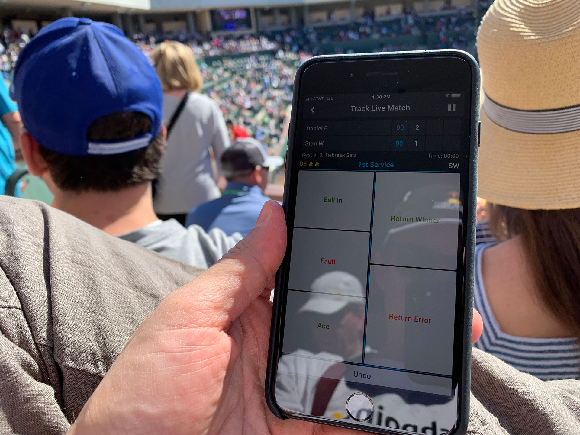 Smashpoint Tennis Tracker at Indian Wells